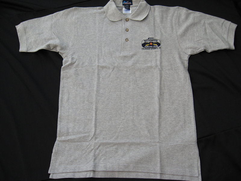 grey golf shirt