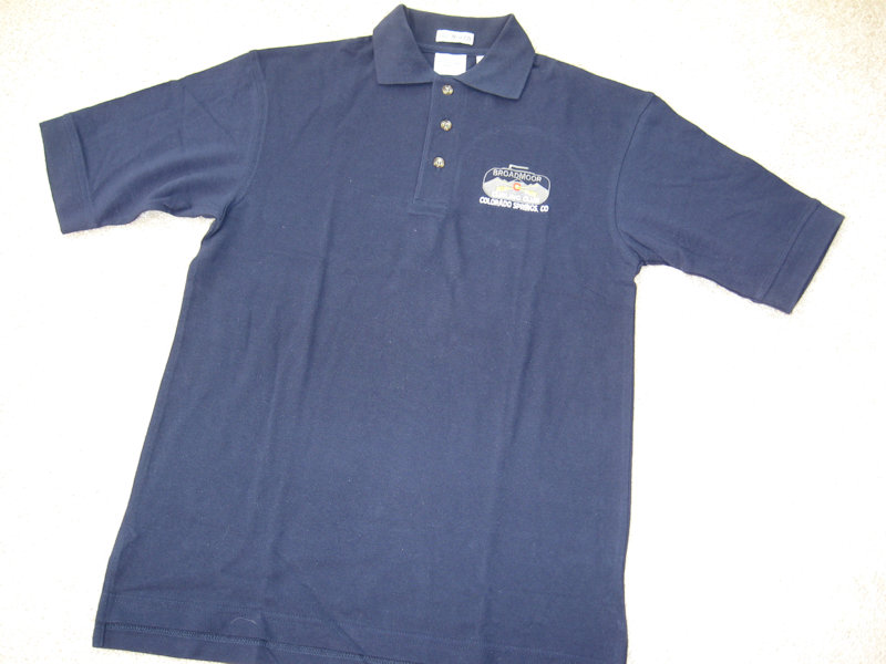 navy blue golf shirt